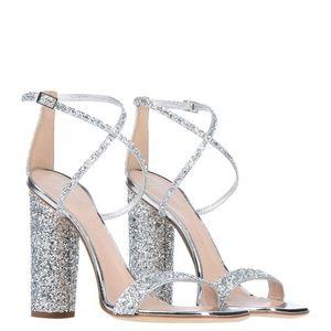 GIUSEPPE ZANOTTI: Svamp Glitter Crisscross Sandals